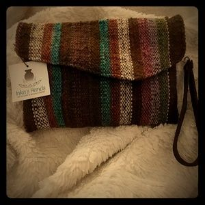 NWT Original handcrafted woven clutch/wristlet